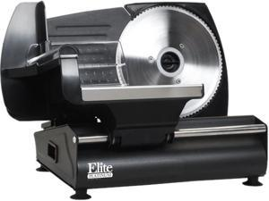 MaxiMatic EMT-503B Elite Gourmet 130-Watt Die-Cast-Aluminum Electric Food Slicer, Black