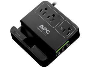 APC P3U3B 3-Outlet SurgeArrest(R) Surge Protector with 3 USB Ports (Black)