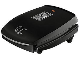George Foreman GR20B 4 Serving Classic Plate Grill, Black