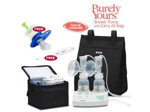 Ameda 17077KIT6  Purely Yours Breast Pump Combo  6  with Carry All Bag  Free Omron Digital Thermometer  and Baby Medicine Dispenser