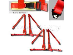 NRG 4 Point Safety Harness - Red SBH-100R