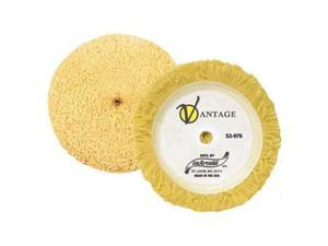 "7"" Wool Polishing Pad with Loop Curved Edge Vantage"