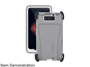 NEW OtterBox Defender Holster Case for Motorola DROID Ultra - White/Gray