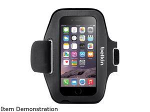 Belkin Sport-Fit Carrying Case (Armband) for iPhone 6 - Blacktop, Overcast - Scratch Resistant - Neoprene - Armband