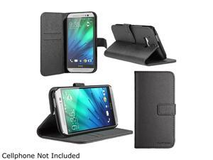 SUPCASE All New HTC One M8 Case - Premium Wallet Leather Case for HTC One 2014 Release (Black, Built-in Credit Card/ID Card Slot)