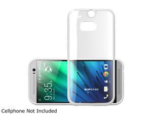 SUPCASE All New HTC One M8 Case - Premium Hybrid Protective Bumper Case (White/Clear) for HTC One 2014 Release
