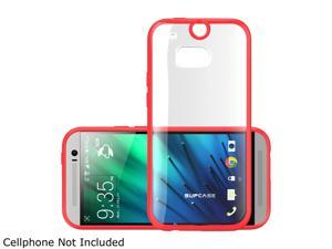 SUPCASE All New HTC One M8 Case - Premium Hybrid Protective Bumper Case (Red/Clear) for HTC One 2014 Release