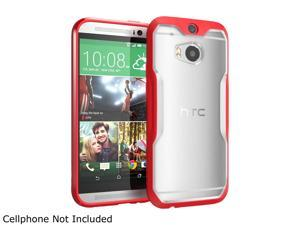 SUPCASE All New HTC One Case - Unicorn Beetle Premium Hybrid Protective Case for HTC One M8 2014 Release (Frost Clear/Red)