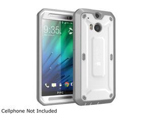 SUPCASE All New HTC One M8 Case - Unicorn Beetle PRO Full-body Hybrid Protective Case with Built-in Screen Protector (White/Gray)