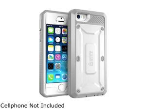 iPhone 5S Case, SUPCASE [Heavy Duty Belt Clip Holster] Apple iPhone 5S Case Fit for iPhone 5 [Unicorn Beetle PRO Series] Full-body Rugged Hybrid Cover with Built-in Screen Protector (White/Gray)