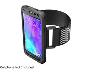 Galaxy S6 Active Armband, SUPCASE Easy Fitting Sport Running Armband with Premium Flexible Case Combo for Samsung Galaxy S6 Active **Will not Fit Galaxy S6** (Black)