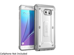 Samsung Galaxy Note 5 Case, SUPCASE [Heavy Duty] Belt Clip Holster Case for Galaxy Note 5 [Unicorn Beetle PRO Series] Full-body Rugged Cover with Built-in Screen Protector / Bumpers (White/Gray)