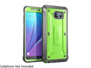 Samsung Galaxy Note 5 Case, SUPCASE [Heavy Duty] Belt Clip Holster Case for Galaxy Note 5 [Unicorn Beetle PRO Series] Full-body Rugged Cover with Built-in Screen Protector / Bumpers (Green/Gray)