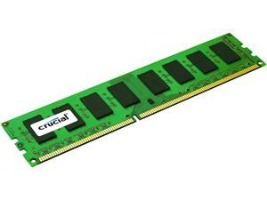 Crucial 8GB Single DDR3L 1600MT/s (PC3-12800) DR x8 ECC UDIMM 240-Pin Memory - CT102472BD160B