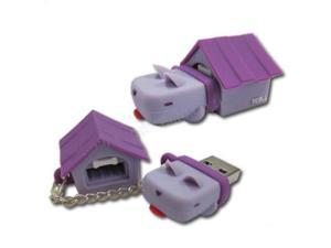 TCell Dog House 4GB USB Flash Drive (Grape Purple)