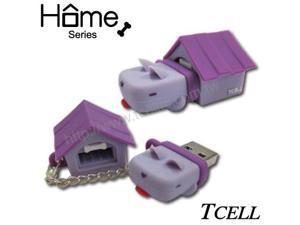 TCELL FDDGCGQGPOO Home Dog 8GB USB Flash Drive (Grape Purple)