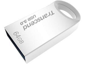 64GB Transcend JetFlash 710S Silver Metallic USB3.0 Flash Drive