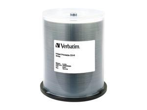 Verbatim 700MB 52X CD-R Inkjet Printable 100 Packs Disc Model 95251