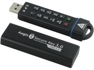 Apricorn Aegis Secure Key 30GB FIPS 140-2 Level 3 Validated USB 3.0 Flash Drive with PIN Access 256bit AES Encryption Model ASK3-30GB