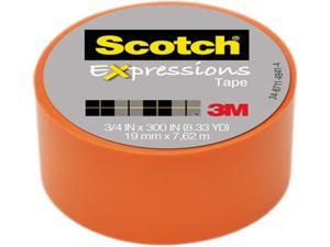 "Scotch Expressions Tape Removable 3/4""X300""-Orange"