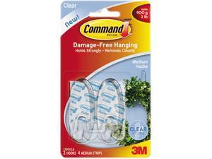Command Medium Hooks 2/Pkg-Clear