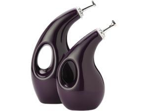 Rachael Ray 2-pc. Stoneware EVOO and Vinegar Set, Eggplant