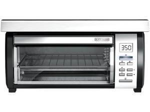 BLACK&DECKER TROS1000D Space Maker Digital Toaster Oven, Stainless Steel/Black