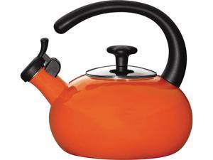 Rachael Ray 1.5-qt. Porcelain Enamel Curve Tea Kettle, Orange
