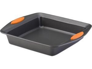 "Rachael Ray 54074 Oven Lovin' Non-Stick 9"" Square Cake Pan, Orange"