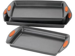 Rachael Ray 56524 Oven Lovin' Nonstick Bakeware 3-Piece Baking and Cookie Pan Set