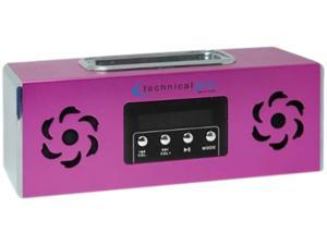 Technical Pro BOOMBOX2P Portable Rechargeable Speaker with iPod Loading Dock & USB Input