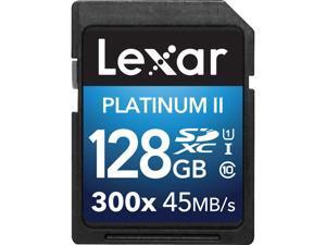 Lexar 128GB Platinum II 300x SDXC UHS-I/U1 Class 10 Memory Card (LSD128BBNL300)