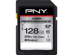 PNY 128GB High Performance SDHC UHS-I/U1 Class 10 Memory Card, Speed Up to 85MB/s (P-SDXC128U185-GE)