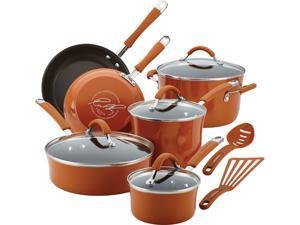Rachael Ray 12-pc. Nonstick Cucina Cookware Set, Pumpkin