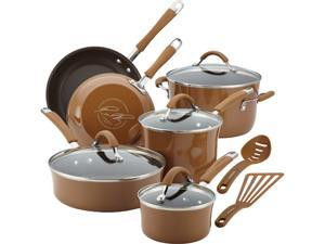 Rachael Ray 12-pc. Nonstick Cucina Cookware Set, Mushroom