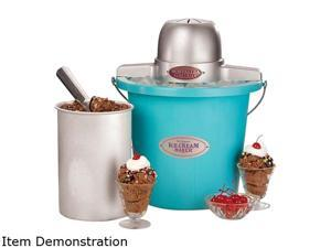 Nostalgia Electrics Vintage Collection 4-qt. Electric Ice Cream Bucket, ICMP400BLUE