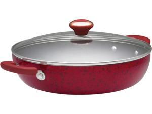 Paula Deen 12-in. Nonstick Signature Porcelain Everything Pan, Red
