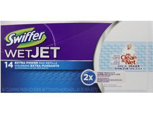 "WetJet System Refill Cloths 11.3"" x 5.4"" Extra Power White 14/Box"