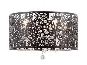 Zuo Modern 50034 Nebula Ceiling Lamp, Black