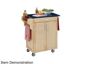 Home Styles 9001-0014 Create-a-Cart Natural Wood Cuisine Cart with Black Granite Top
