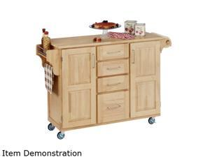 Home Styles 9100-1011 Create-a-Cart Natural Wood Kitchen Cart with Natural Wood Top