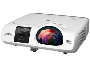 Epson - V11H670022 - Epson BrightLink 536Wi LCD Projector - 720p - HDTV - 16:10 - Front - Interactive1.6 - UHE - 215 W -
