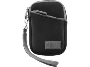 USA GEAR Compact Digital Camera Carrying Case with Neoprene Cushion , Belt Loop and Wrist Strap - Works with Nikon Coolpix A100 , AW130 , 1 J5 and More Nikon Digital Cameras