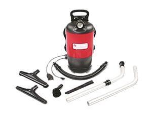 Backpack Vacuum, Lightweight, HEPA Filter, Black/Red