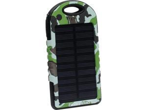 Gear Head PB5500SLR Solar Powered Water Resistant Portable Power Bank Camouflage