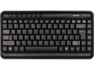 A4-Tech KL-5BK Xtra-Slim Type Multimedia Keyboard - 1.5 cm thick, 2/3 width and weight