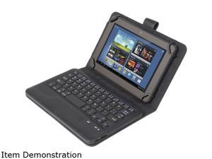 PC Treasure 09241 Universal Bluetooth Keyboard Case for 7in-8in Tablets Black