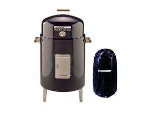 Brinkmann 810-5301-V Smoke N Grill Charcoal with Vinyl Cover- Black