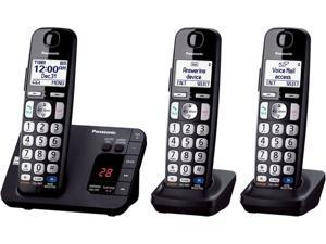 Panasonic KX-TGE233B DECT 6.0 Expandable Digital Cordless Answering System with 3 handsets