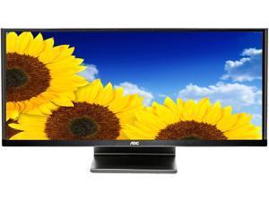 "AOC Q2963PQ 29"" Ultra Wide 21:9 5ms IPS LCD/LED Monitor, Flat Panel, 300 cd/m2 50,000,000:1, Built-in Speakers, VESA Mountable, VGA, DVI, HDMI (MHL), Display Port"